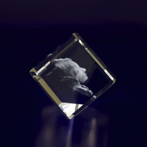 Photo Crystal 3D 40mm Diamond Side View