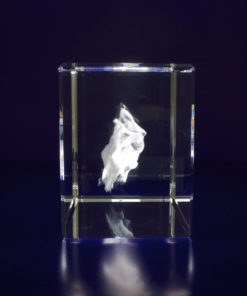 Photo Crystal 3D 120mm Rectangle Side View