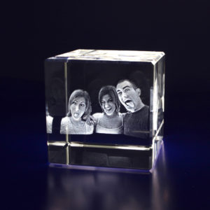 Photo Crystal 3D 40mm Cube